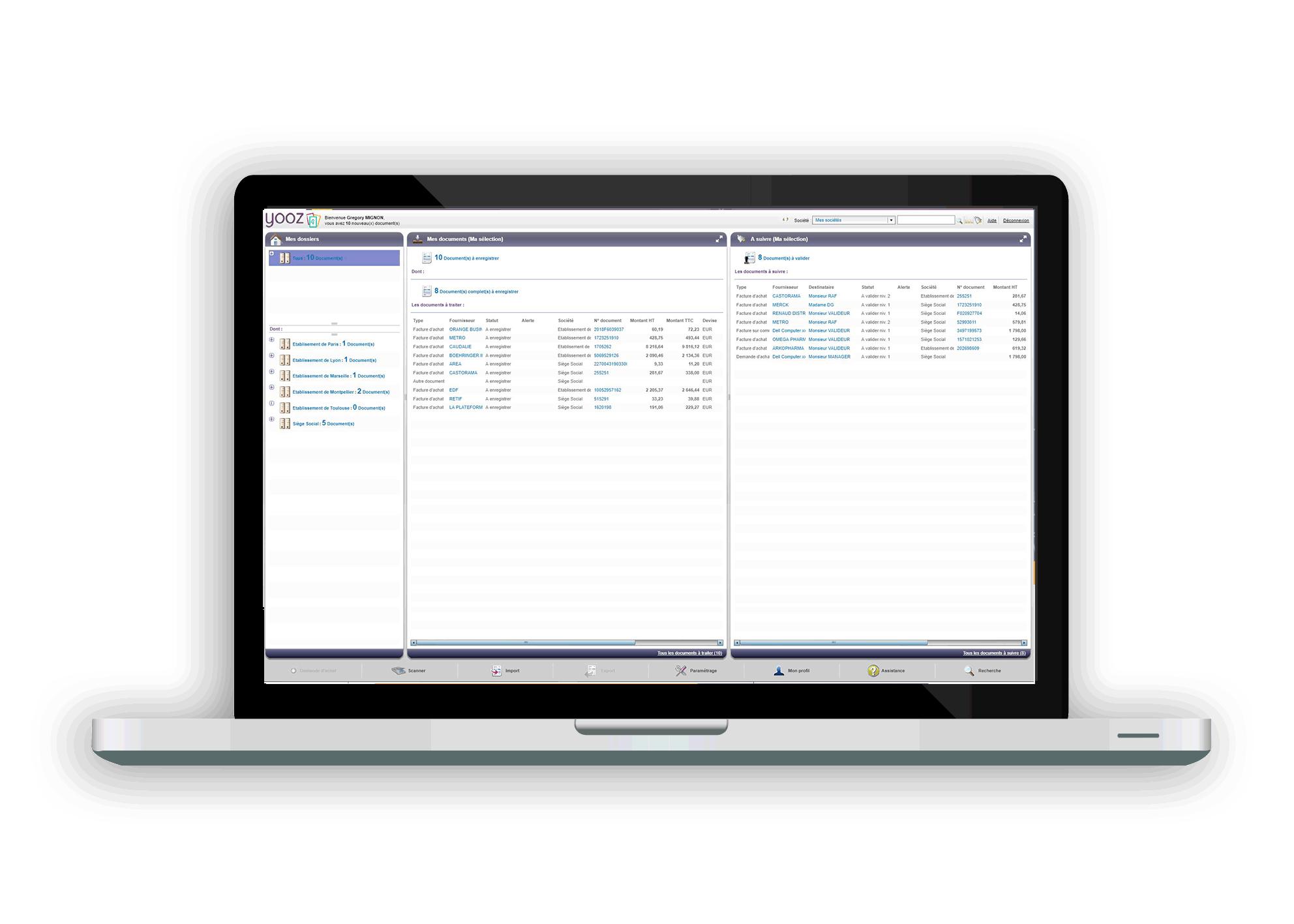 yooz-interface-principale